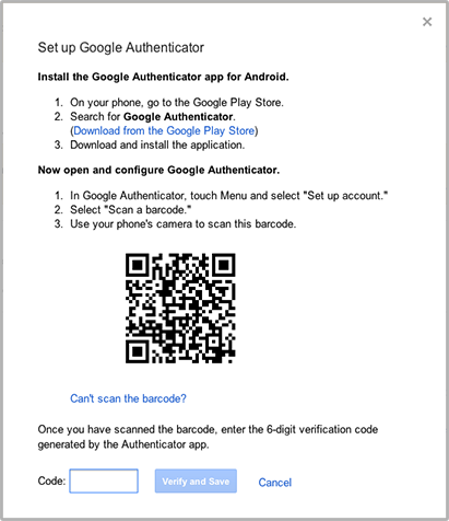Enable 2 Step Verification for Gmail using Authy.GMail will show you a QRCode.